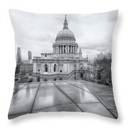 Rainy Rooftops Throw Pillow