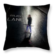 Rainy Whether In An Evening In  London. Throw Pillow