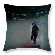 Rainy Whether In London. Throw Pillow