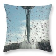 Rainy Window Needle Throw Pillow