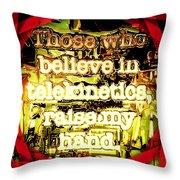 Raise My Hand Throw Pillow