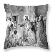 Raising Lazarus Throw Pillow