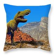 Rajasaurus In The Desert Throw Pillow