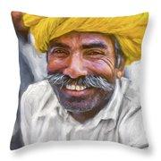 Rajput High School Teacher - Paint Throw Pillow