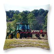 Raking The Hay Throw Pillow