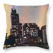 Raleigh Skyscrapers Throw Pillow