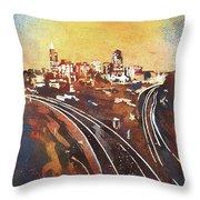 Raleigh Sunrise II Throw Pillow