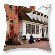 Raleigh Tavern Throw Pillow
