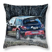 Rally Car Throw Pillow