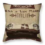 Rally Italia Throw Pillow by Cinema Photography