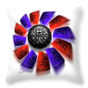 Rally Round The Flag Throw Pillow