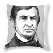 Ralph Waldo Emerson Throw Pillow