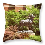 Ram Statue Throw Pillow