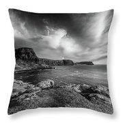 Ramasaig Bay Neist Point Throw Pillow