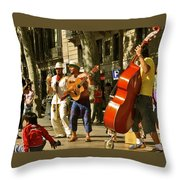 Ramblas Barcelona Throw Pillow