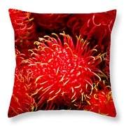 Rambutan Throw Pillow