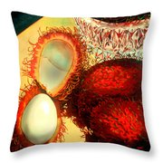 Rambutons Throw Pillow