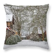 ramlosa brunnspark Snowfall Throw Pillow