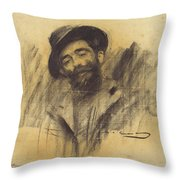 Ramon Casas - Mnac- Eliseu Meifren Throw Pillow