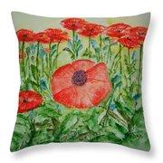 Ramonas Poppies Throw Pillow