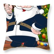 Rams Santa Claus Throw Pillow