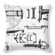 Ramsdens Dividing Engine, 18th Century Throw Pillow
