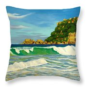 Ramy Base Beach Throw Pillow by Milagros Palmieri