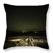 Ranch Fence Throw Pillow
