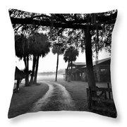 Ranch Life Bw Throw Pillow