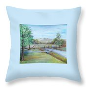 Ranch Rd Throw Pillow
