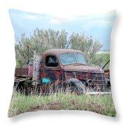 Ranch Truck Throw Pillow