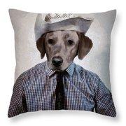 Rancher Dog Throw Pillow