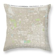 Rancho Cucamonga California Us City Street Map Throw Pillow