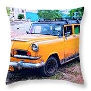 Rancho Rover Throw Pillow