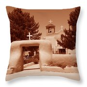 Ranchos De Taos Church   New Mexico Throw Pillow