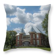 Randolph County Asylum Throw Pillow