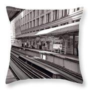 Randolph Street Station Chicago Throw Pillow