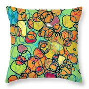 Random Cells 5 Throw Pillow