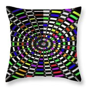 Random Color Oval Abstract Throw Pillow