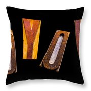 Random Letters Forming The Word Joyous Throw Pillow