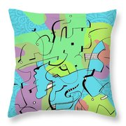 Random Lines  Throw Pillow
