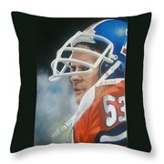 Randy Gradishar Throw Pillow by Don Medina