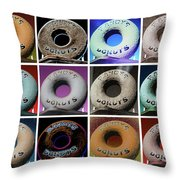Randy's Donuts - Dozen Assorted Throw Pillow