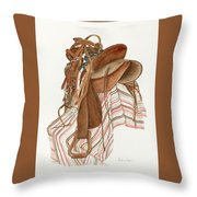 Randy's Saddle Throw Pillow