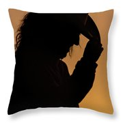 Range Woman Throw Pillow