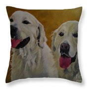 Ranger And Riley Waiting For A Command Throw Pillow