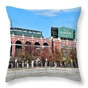 Rangers Global Life Park Throw Pillow