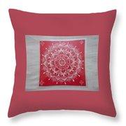 Rangoli Mandala Throw Pillow