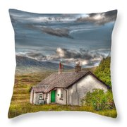 Rannoch Railway Station View Throw Pillow