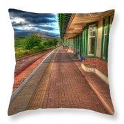 Rannoch Station Platform Throw Pillow